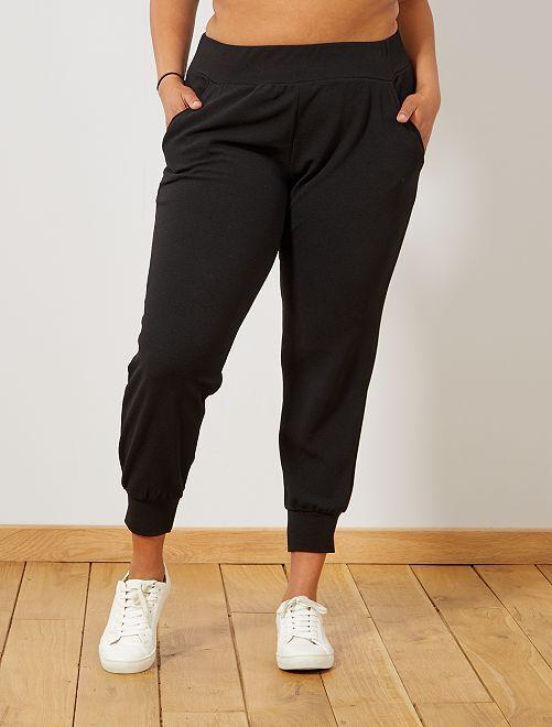 Pantalon maille resserrée en bas                             noir