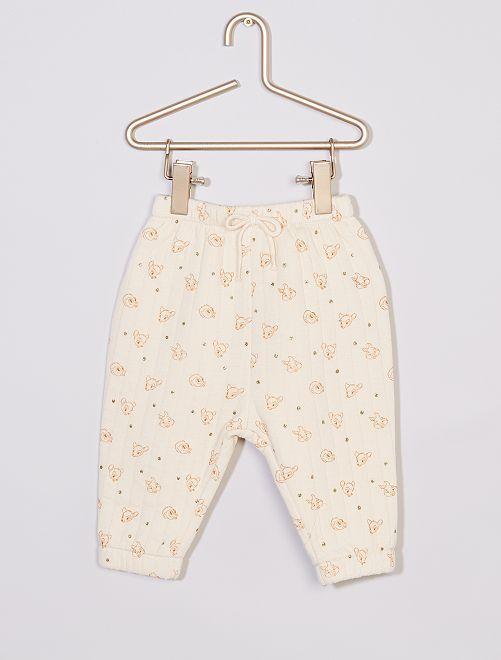 Pantalon matelassé 'Disney' éco-conçu                             beige