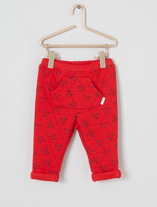 Pantalon matelassé                             rouge
