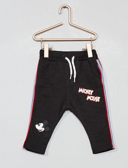 Pantalon 'Mickey' à bandes                             noir