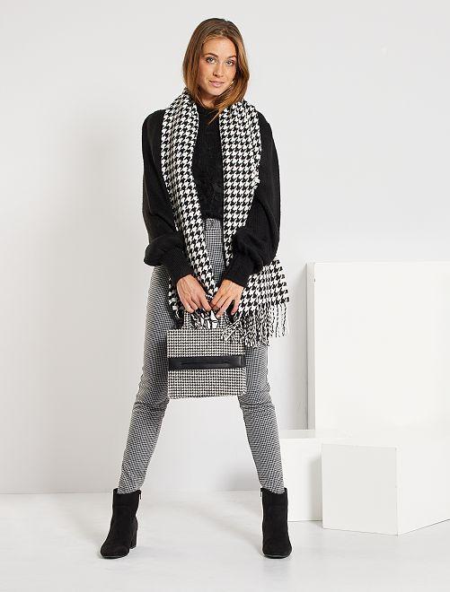 Pantalon milano                                                     noir/blanc carreaux