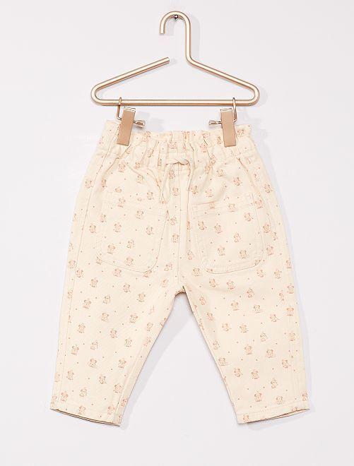 Pantalon 'Minnie' éco conçu                             BLANC