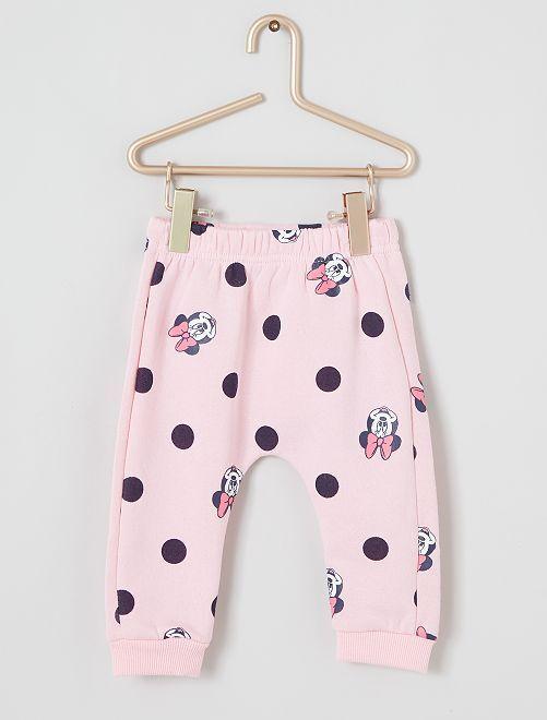 Pantalon 'Minnie' en molleton                                         rose
