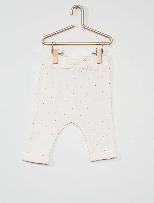 Pantalon molleton                                                                             blanc