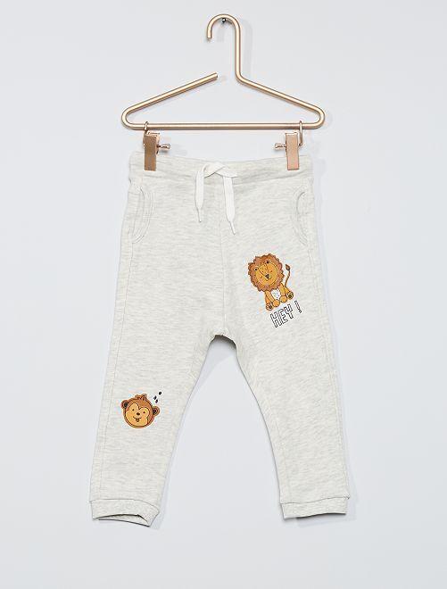 Pantalon molleton éco-conçu                                                                             beige chiné