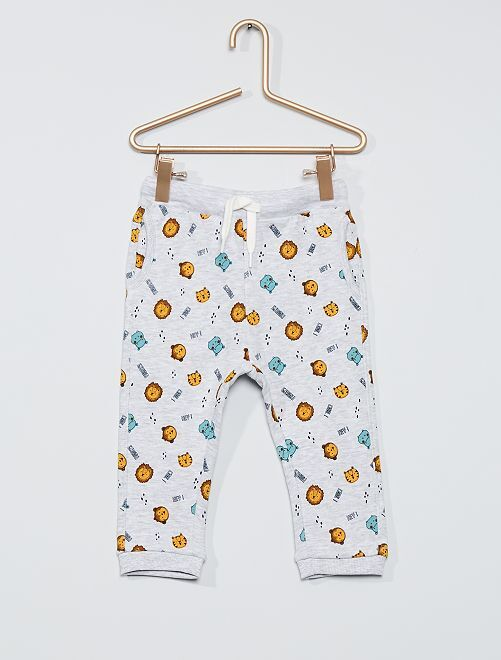 Pantalon molleton éco-conçu                                                                             gris clair chiné