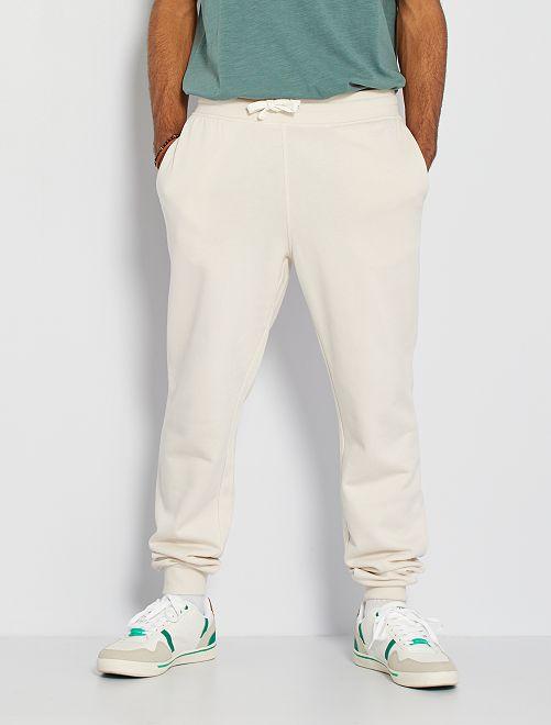 Pantalon molleton                                                                                                                 écru