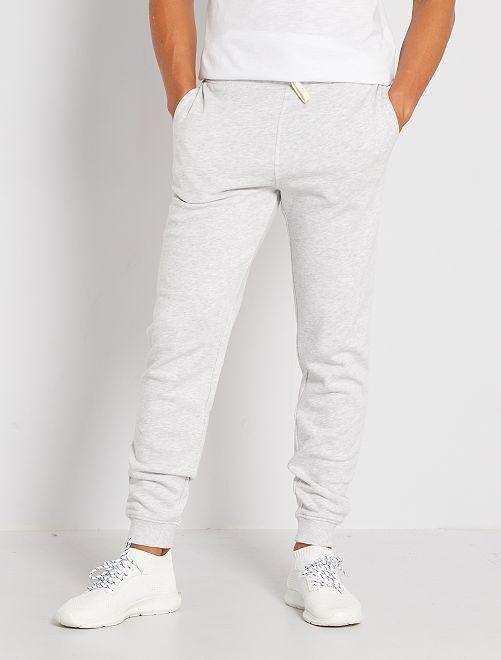Pantalon molleton                                                                                                                 gris clair chiné