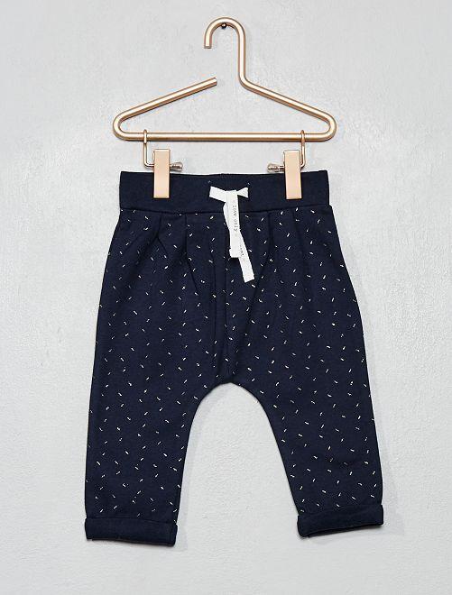 Pantalon molleton imprimé                                                                 marine