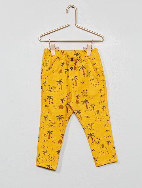 Pantalon molleton léger 'Le Roi Lion'                                         jaune