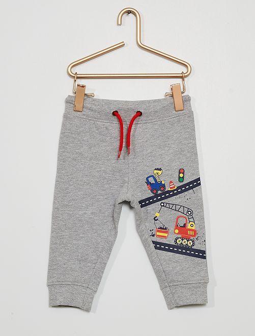 Pantalon molletonné 'camions'                             gris