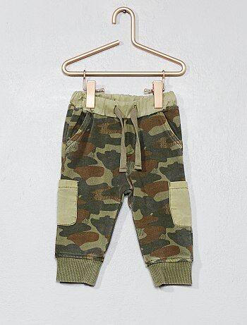 Garçon 0-36 mois - Pantalon molletonné camouflage - Kiabi