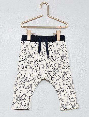 Garçon 0-36 mois - Pantalon molletonné 'forêt' - Kiabi