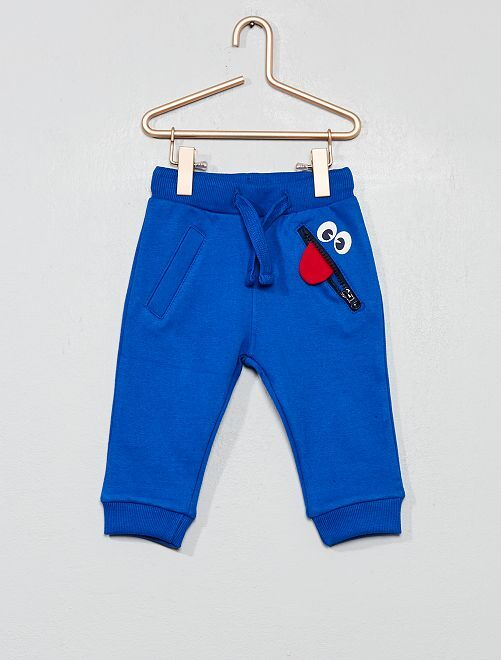 Pantalon molletonné 'monstre'                             bleu