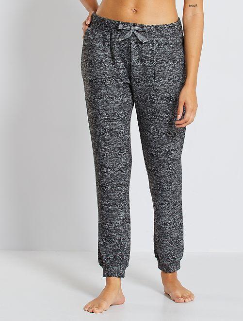 Pantalon nuit ultra doux                                         gris chiné