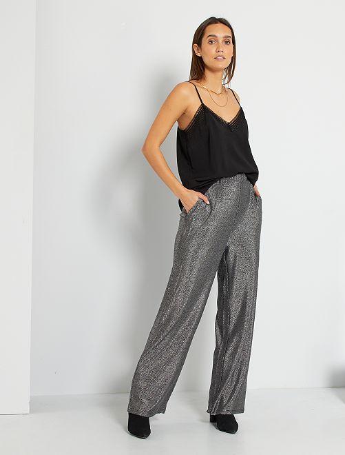 Pantalon pailleté 'JDY'                             noir