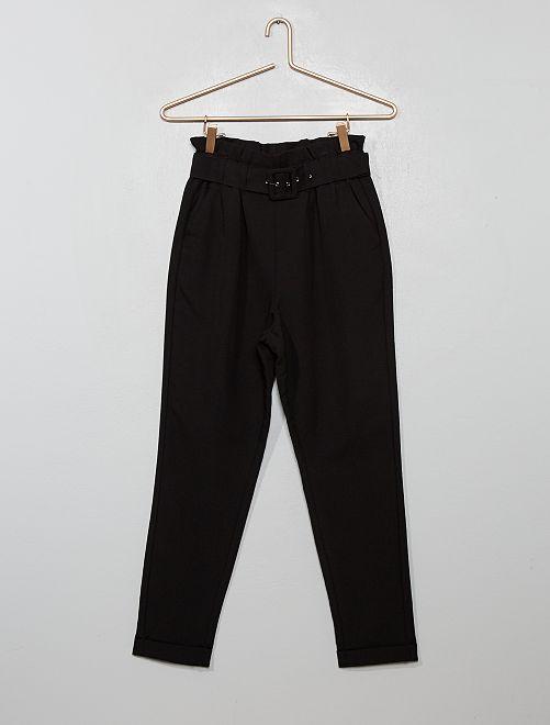 Pantalon paper bag                                                                 noir