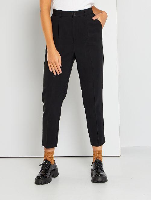 Pantalon paperbag                                                     noir