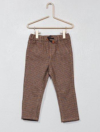 Garçon 0-36 mois - Pantalon pied de poule - Kiabi