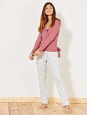 Pantalon pyjama à motifs