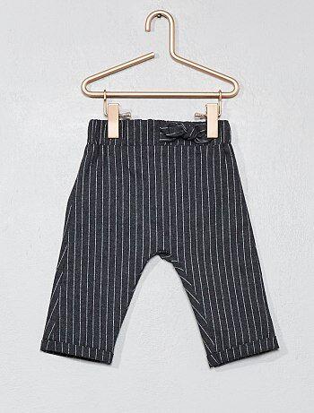 Pantalon rayé en flanelle - Kiabi