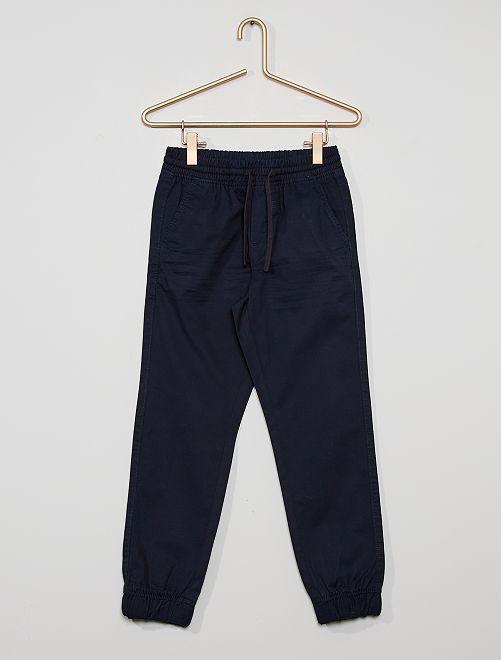 Pantalon regular                                                                             bleu marine