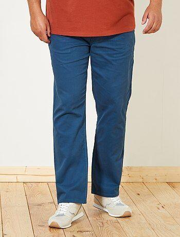 ddc94f45987af Grande taille homme - Pantalon regular en gabardine - Kiabi