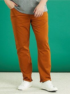 Pantalon casual - Pantalon regular en gabardine - Kiabi
