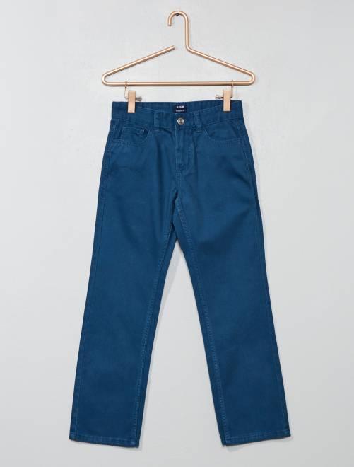 Pantalon regular en twill                                                                 bleu Garçon