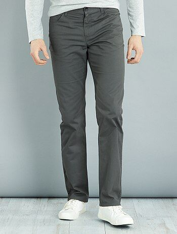 Pantalon regular en twill de coton L36