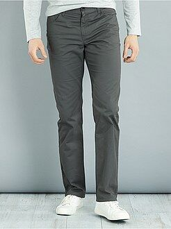 Homme de plus d'1m90 - Pantalon regular en twill L36 +1m90 - Kiabi