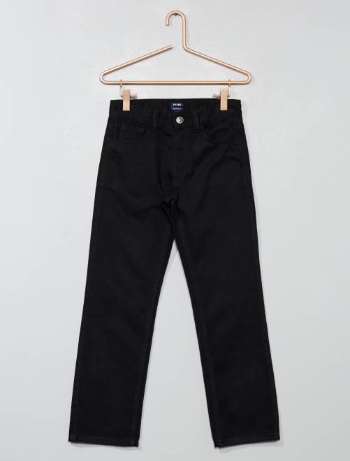 Pantalon regular en twill                                                                 noir Garçon