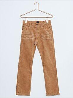 Garçon 4-12 ans Pantalon regular en velours