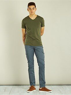 Pantalon casual - Pantalon regular esprit battle - Kiabi