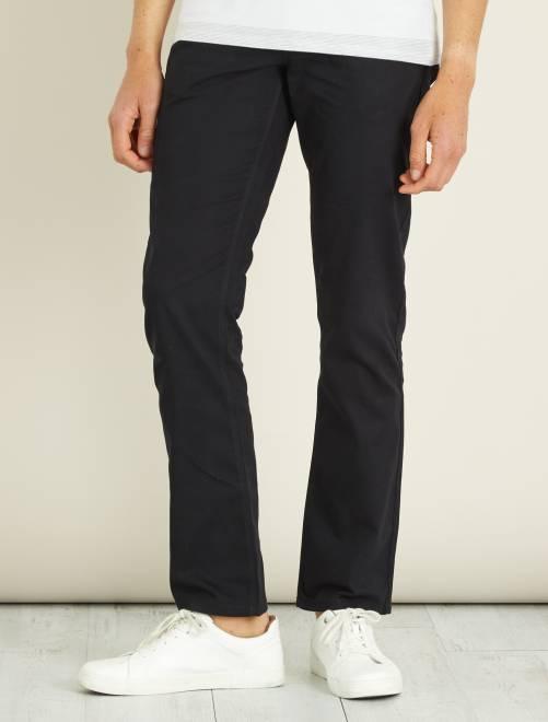 Pantalon regular toucher doux longueur US 32                                                         noir