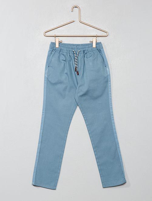 Pantalon regular uni                                                                                         bleu clair