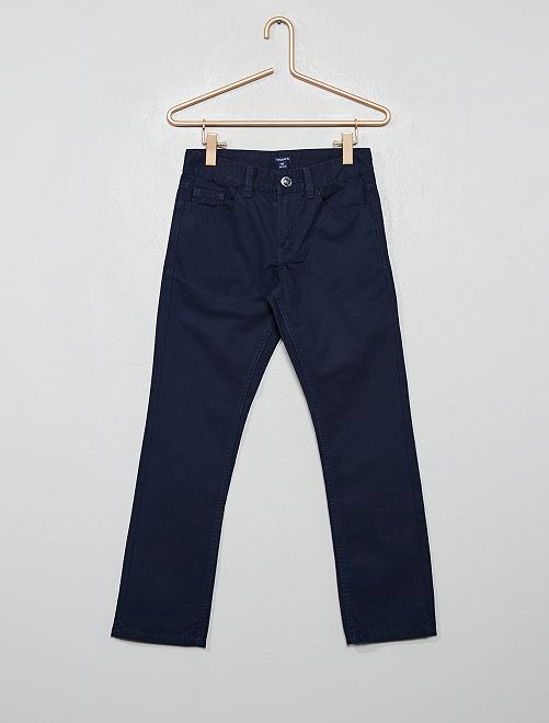 Pantalon regular uni                                                                             bleu marine