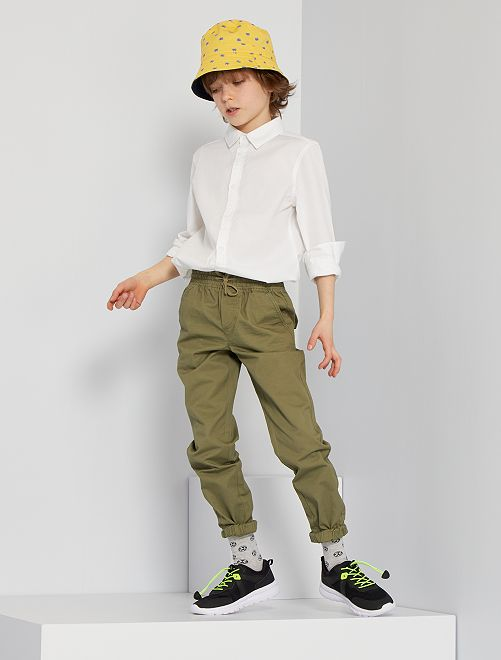 Pantalon regular                                                                             vert lichen