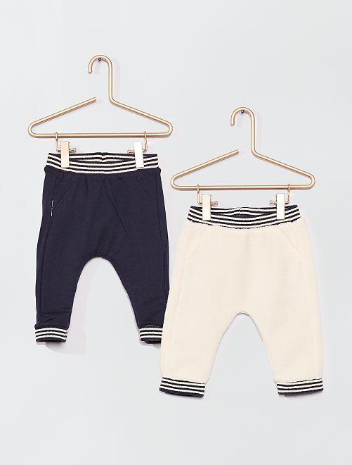 Pantalon réversible en sherpa                                         blanc