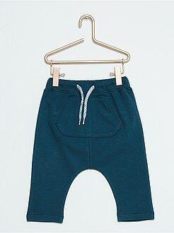 Garçon 0-36 mois Pantalon sarouel aspect flanelle