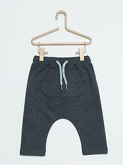 Garçon 0,36 mois Pantalon sarouel aspect flanelle