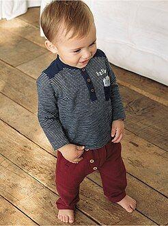 Garçon 0-36 mois - Pantalon sarouel détails boutons - Kiabi