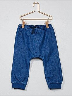 Denim - Pantalon sarouel en denim léger
