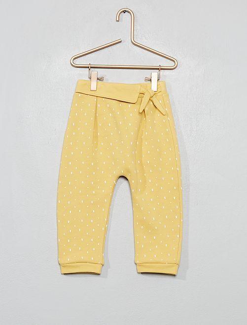 Pantalon sarouel en molleton                                         jaune moutarde