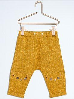 Fille 0-36 mois Pantalon sarouel en molleton pailleté