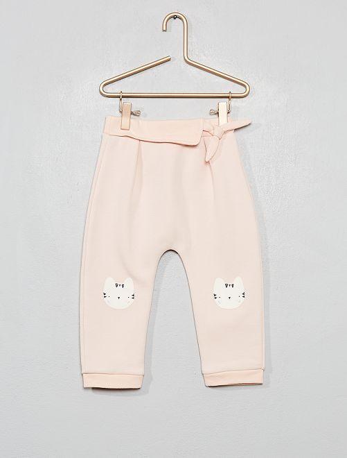 Pantalon sarouel en molleton                                         rose