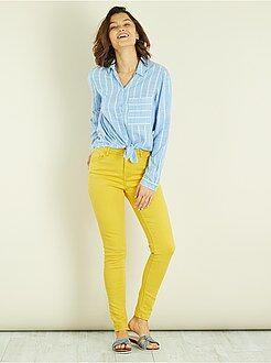 Femme du 34 au 48 - Pantalon skinny 7/8e et taille haute - Kiabi