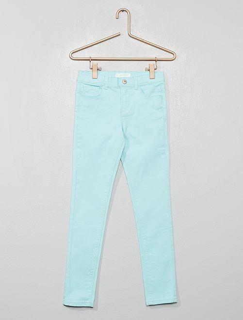 Pantalon skinny                                                                                                                                             bleu vert