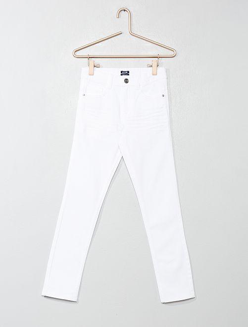 Pantalon skinny cinq poches                                                                                                     blanc