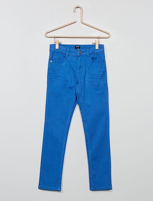 Pantalon skinny cinq poches                                                                                                                                                                                                                                                     bleu électrique